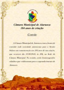Comvite Câmara Municipal de Aiuruoca